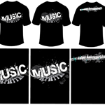 Music T-shirt (collaborated version)