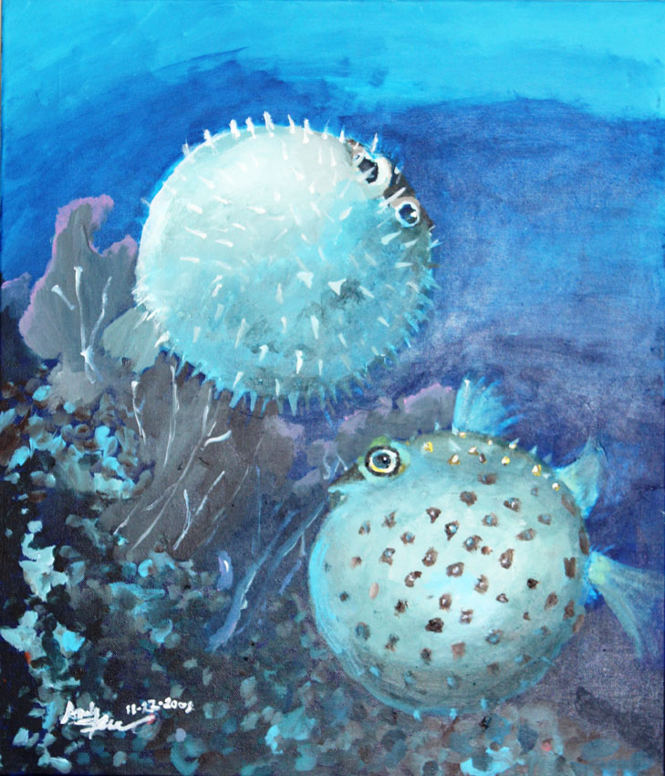 Taipei american school art department student gallery for Puffer fish art