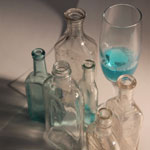 Glass Bottles - Aquamarine