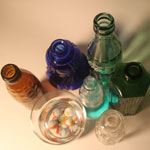 Glass Bottles - Colorful