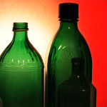 Bottles - rendered lighting