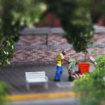 Tilt-shift - street cleaner