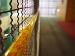 Caution Tape Depth of Field (F 5.0)