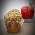 muffin and apple