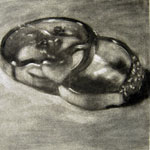 Charcoal Drawing of Rings