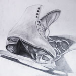 Ice Skate Pencil Observation Sketch