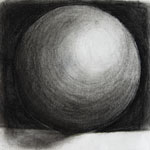 Charcoal Sphere Drawing
