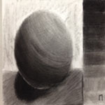 Charcoal values and sphere