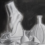 Charcoal Foot Drawing