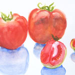 Tomato Watercolor