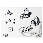 Cubes in Pen and Ink
