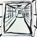 Observational Drawing 2 C Block Hallway