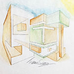 Two-Point Perspective with colors