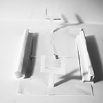 Paper Sculpture - Rugby Field