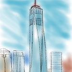 One World Trade Center iPad Sketch