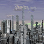 Sci-fi City Daylight Birdeye