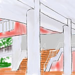 Skybridge- Outdoor Observation iPad Sketch