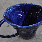 First Mug - Waving Shades of Blue (Second Angle)