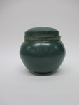 Green Bowl with Lid
