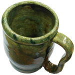 Mug on banding wheel angle 2