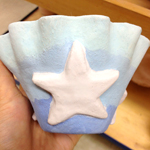Starfish in the Ocean (Pitch Pot) (Not Fired)
