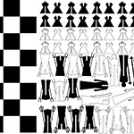 Designer chess board and pieces