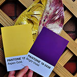 Pantone Aspen Gold and Bright Violet