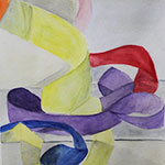 Watercolor Ribbons 1