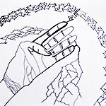 Shielding Reverberation - Hand Outline Drawing