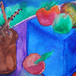 Fruity Vaporization - Fruit Watercolor Landscape