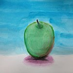 Water Color Apple