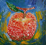 Pointillism Peach