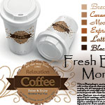 Coffee text altered