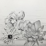 cross hatching with ink