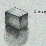 Tonal Values Sugar Cube Drawing
