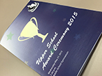 award ceremony cover printed