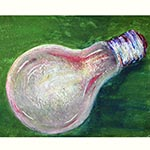 Oil Pastel (Light Bulb)