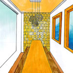 1 Point Perspective Drawing By Christine