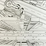 One-Point Perspective: Cityscape