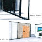 one & two point perspective