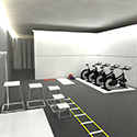 interior render - gym