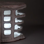 Ceramic Building with Light