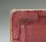 Cranberry glazed antique patterned Tray