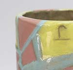 mixed pastel colored cup/vase