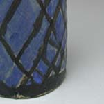 Finished Blue Wine Bottle