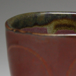 Ceramic bowl Cranberry