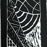 Black and White Linoleum print: 12 mark making studies
