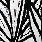 Black and White Linoleum Print