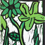 Lino Flower Color Print
