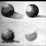 Sketching practice of spheres